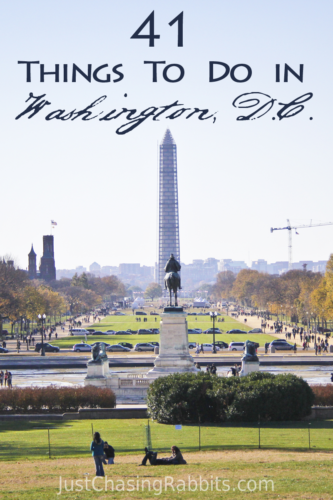 41 Things to do in Washington DC | Here's a list of great things to do when visiting the Capitol of Washington, D.C. | Things to do in Washington DC | What to do in Washington DC | #WashingtonDC #USA