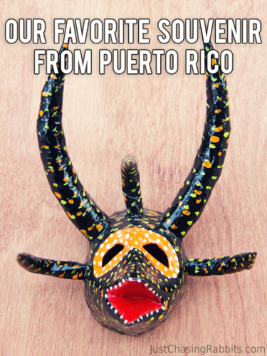 Favorite Souvenir from Puerto Rico Vejigantes Mask    Wondering what to shop for in Puerto Rico? Check out this traditional mask!   #PuertoRico #souvenir