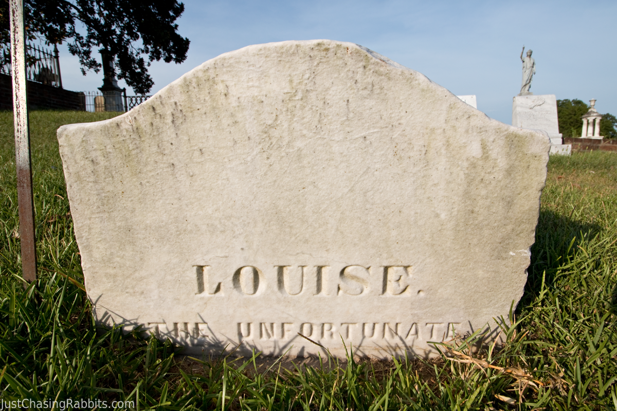 Louise the Unfortunate Natchez City Cemetery