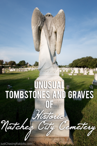 Unusual Tombstones and Graves of the Natchez City Cemetery | A visit to the Natchez City Cemetery is a must for any visit to Natchez, Mississippi because the cemetery is beautiful and has some unusual tombstones. | #Natchez #visitMS #Mississippi #USA | Things to do in Missisissippi | Things to do in Natchez