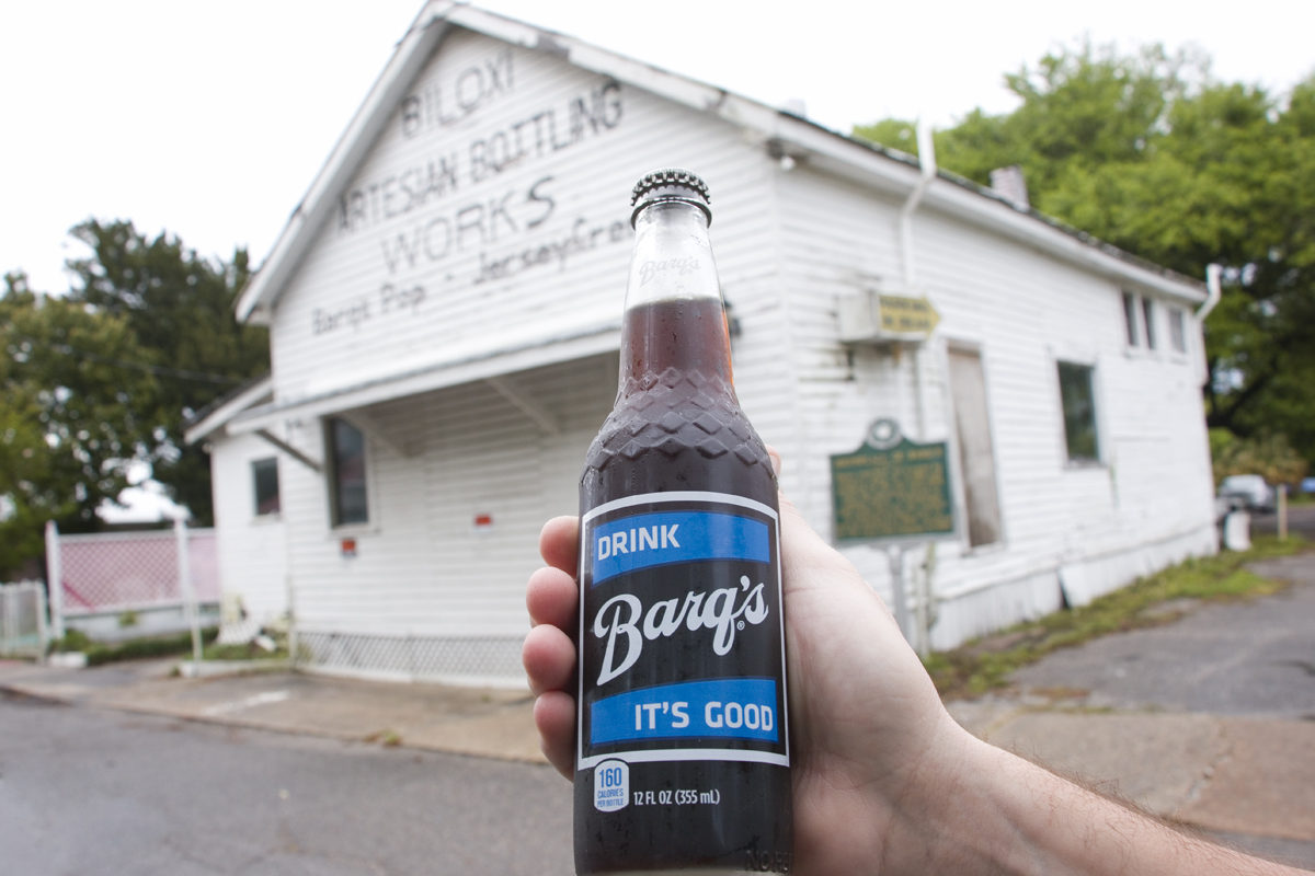Barq's Root Beer in front of the Biloxi Artesian Bottling Works in Biloxi, Mississippi Souvenir