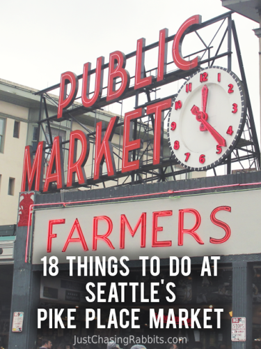 18 Things To Do at Seattle's Pike Place Market   Pike Place Market is an incredible place to find fresh flowers, fresh fish, art, souvenirs, and some seriously yummy food in Seattle.   #Seattle #USA   Things to do in Seattle   Things to see in Seattle