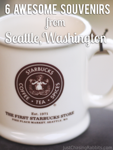 These 6 souvenirs are the best souvenirs from Seattle, Washington, including a mug from the first Starbucks store, a Pike Place Market apron, and a handmade totem pole. | What to buy in Seattle | Seattle Souvenirs | Souvenirs from Seattle | #Seattle #USA #travel