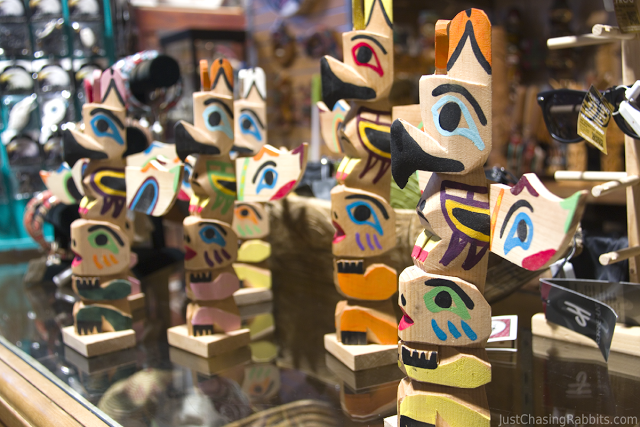 Handmade Totem Pole, found at Ye Olde Curiosity Shop, is a great souvenir from the Seattle area