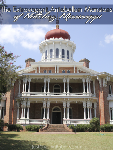 The Extravagant Antebellum Mansion of Natchez, Mississippi are a must-see when visiting the southern part of the state!   #visitms   Things to do in Mississippi   Things to see in Mississippi   #Mississippi #USA #travel   Longwood, Stanton Hall, Rosalie historic homes