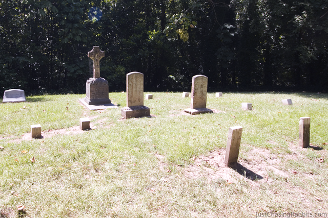 Cemetery at Octagonal home Longwood, a historic and Antebellum mansion in Natchez, Mississippi