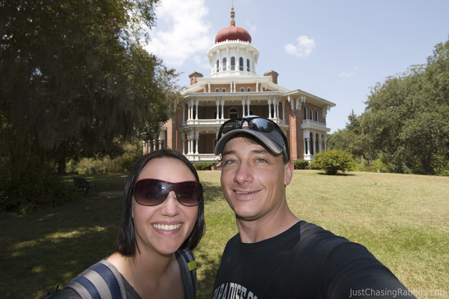 Octagonal home Longwood, a historic and Antebellum mansion in Natchez, Mississippi