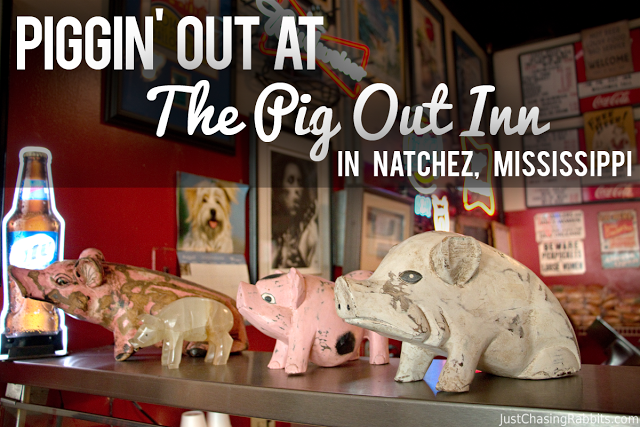 Pigging out at the Pig Out Inn barbecue restaurant in Natchez, Mississippi