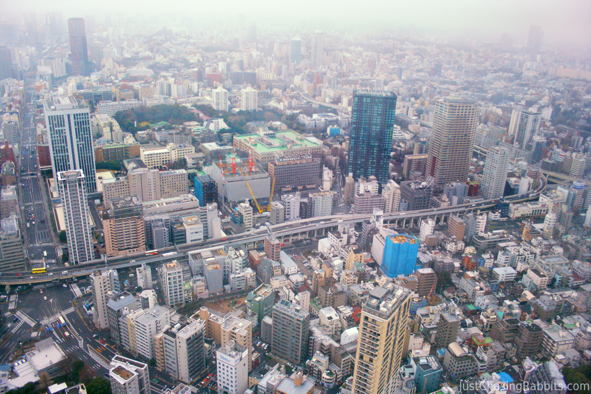 View of Tokyo from Tokyo Tower in Japan