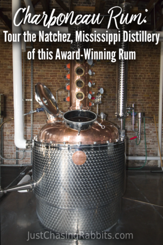 Charboneau Rum: Tour the Natchez, Mississippi Distillery of this Award-Winning Rum | If you're visiting #Natchez #Mississippi, Charboneau Rum is a great stop to learn about the distilling process of rum. Next door to King's Tavern. | #USA #UnitedStates #travel #distillery #rumdistillery #VisitMS