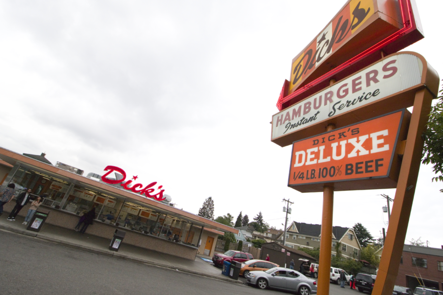 The original location of Dick's Drive-In in Seattle, Washington