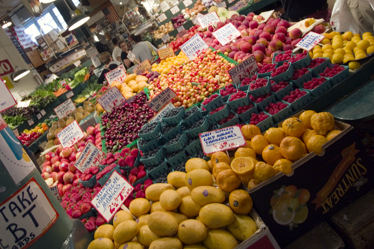 Fresh fruit from Pike Place Market in Seattle