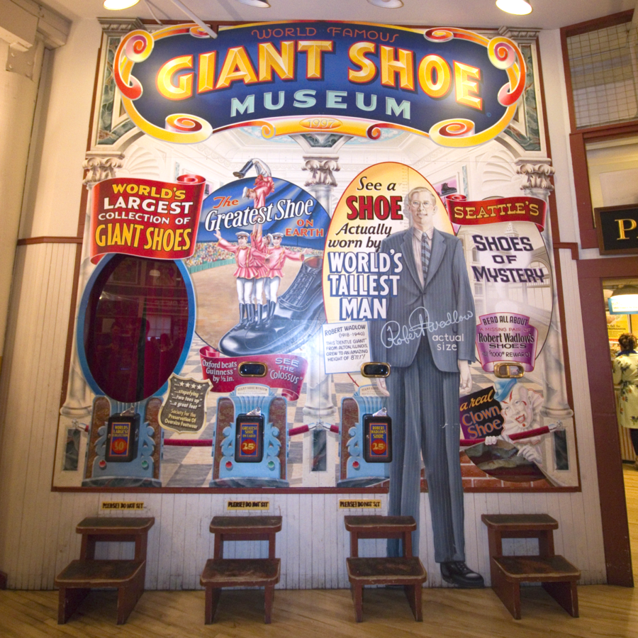 The Giant Shoe Museum in Seattle's Pike Place Market