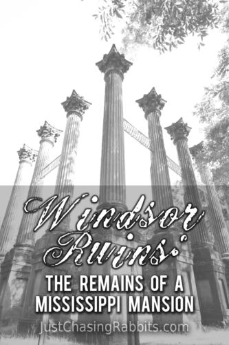 Windsor Ruins: The Remains of a Mississippi Mansion | Visit the Windsor Ruins in southern Mississippi for a spooky look at the remains of an antebellum home. | Things to do in Mississippi | #Mississippi #USA #UnitedStates #travel #VisitMS | Things to see in Mississippi | #ruins #abandoned #spooky