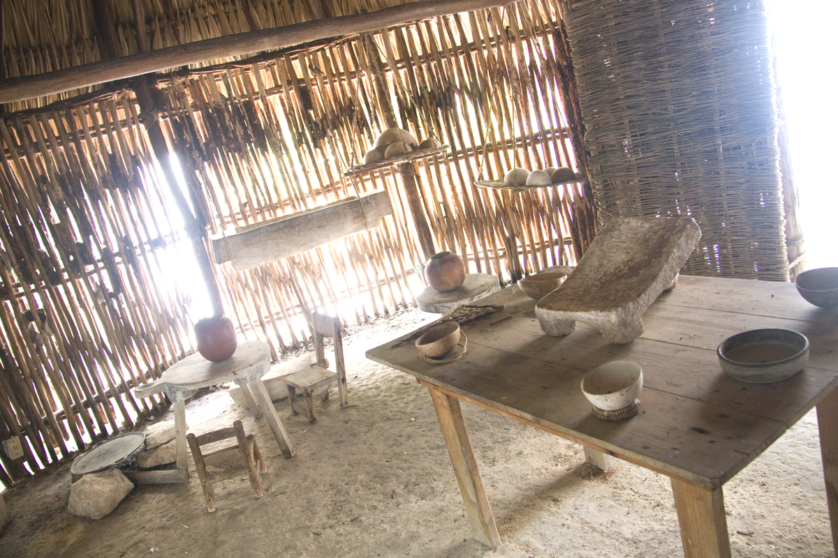 Replica Mayan House at the Museum of the Island of Cozumel