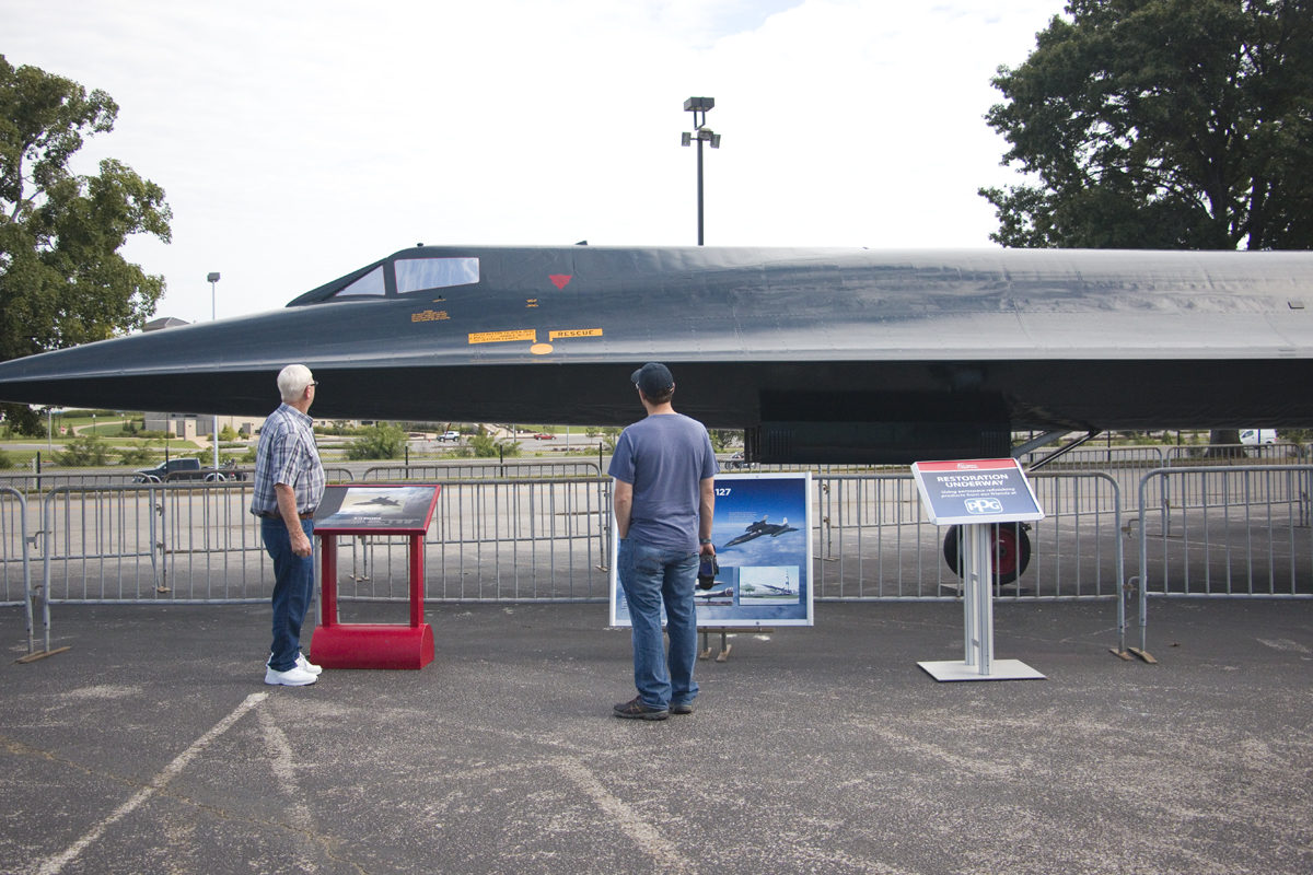 A-12 Oxcart aircraft at the US Space and Rocket Center