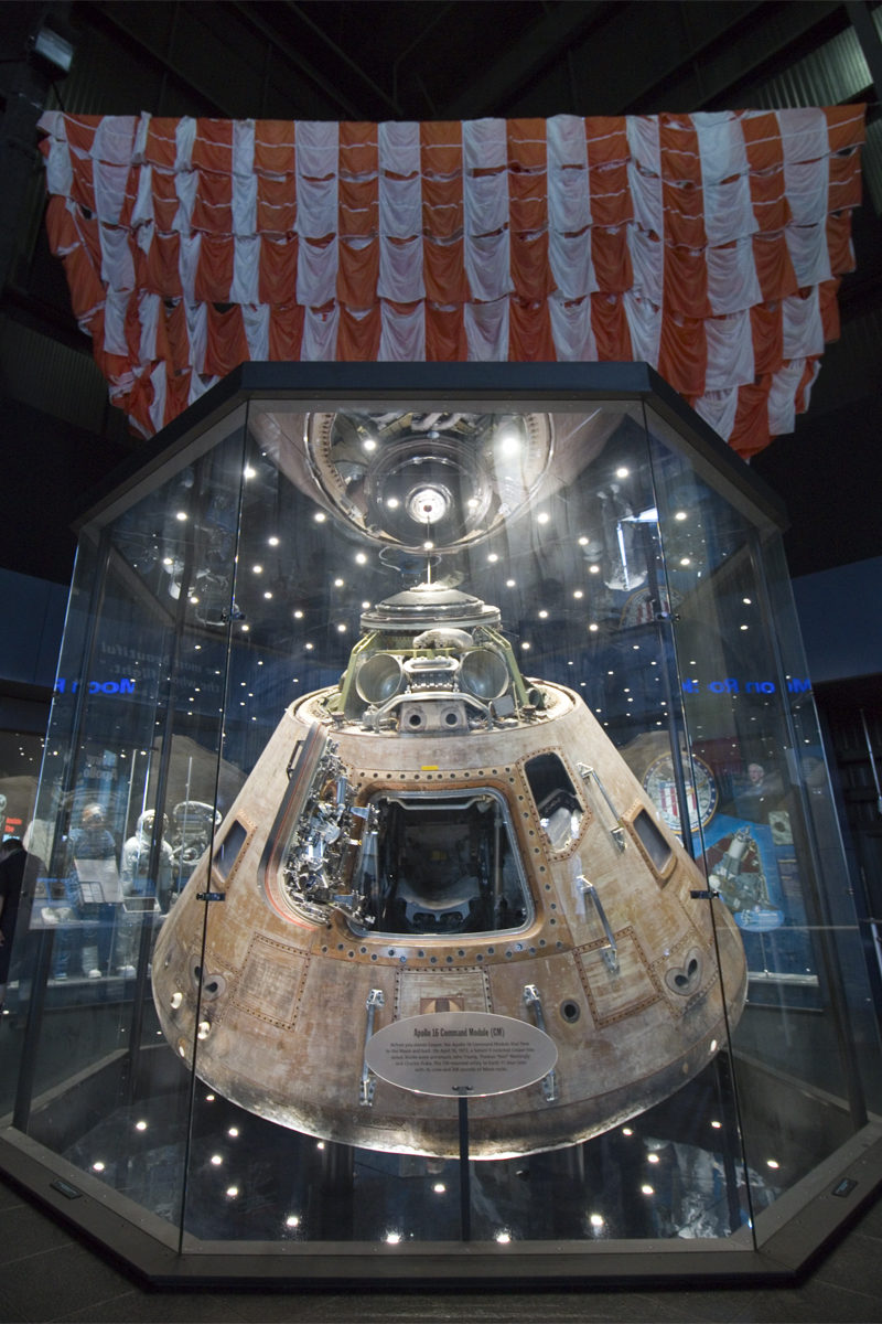 Apollo 16 Command Module at the US Space and Rocket Center in Huntsville, Alabama