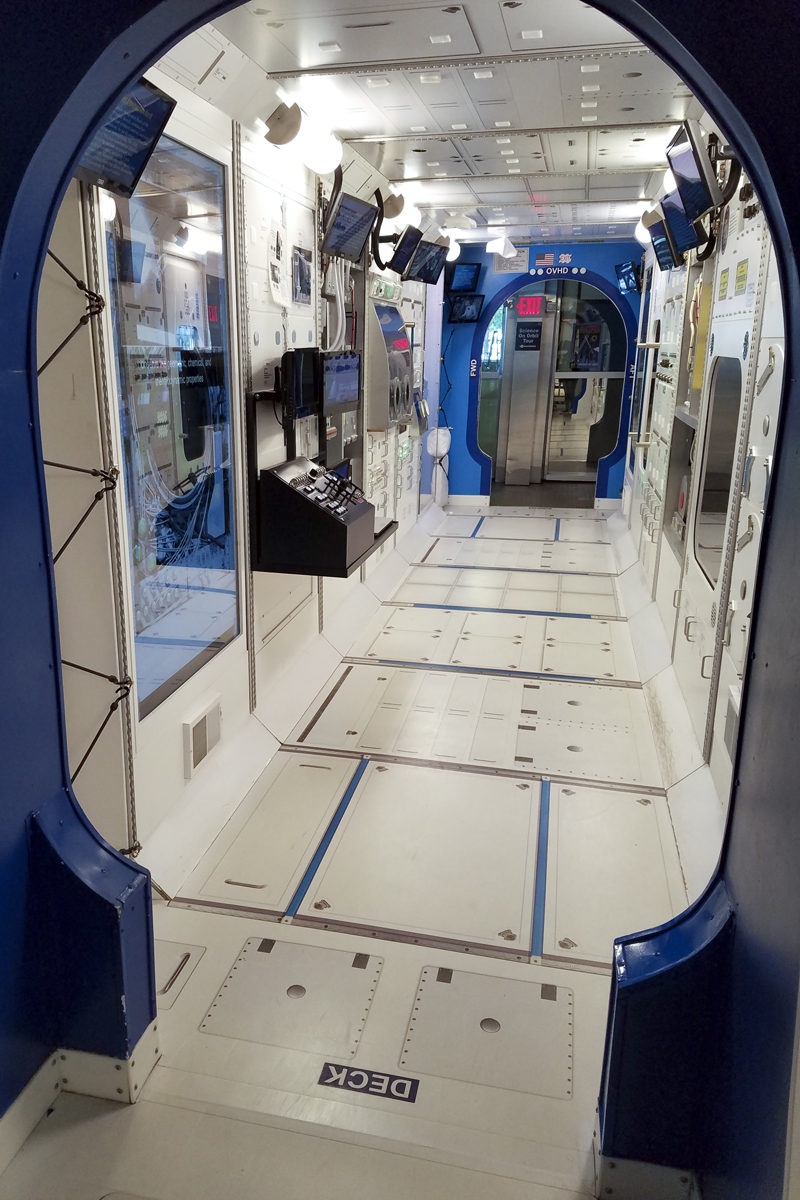ISS International Space Station Walkthrough Exhibit at the US Space and Rocket Center