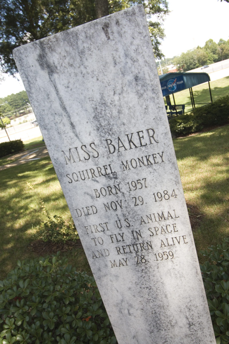 Miss Baker Gravesite at the US Space and Rocket Center