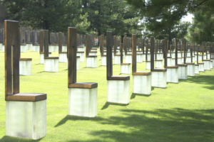 Field of Empty Chairs at the Oklahoma City National Memorial
