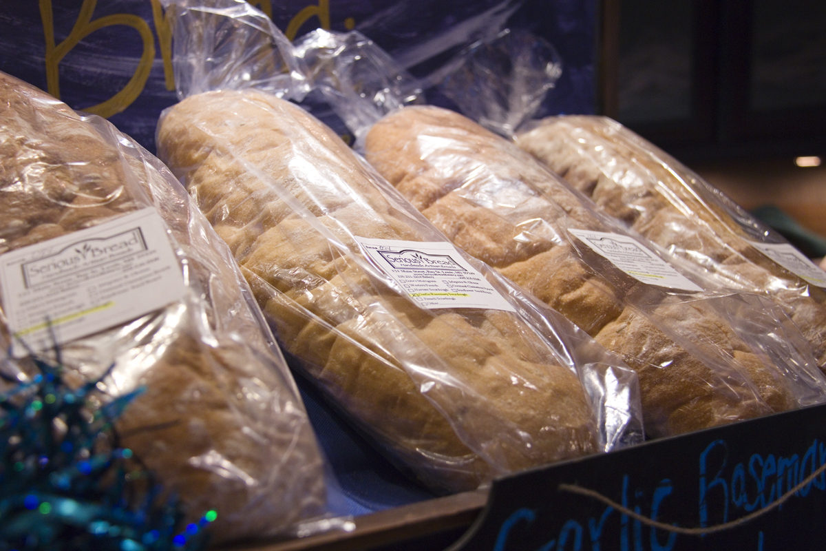Loaves of bread at Serious Bread bakery in Bay St Louis, Mississippi