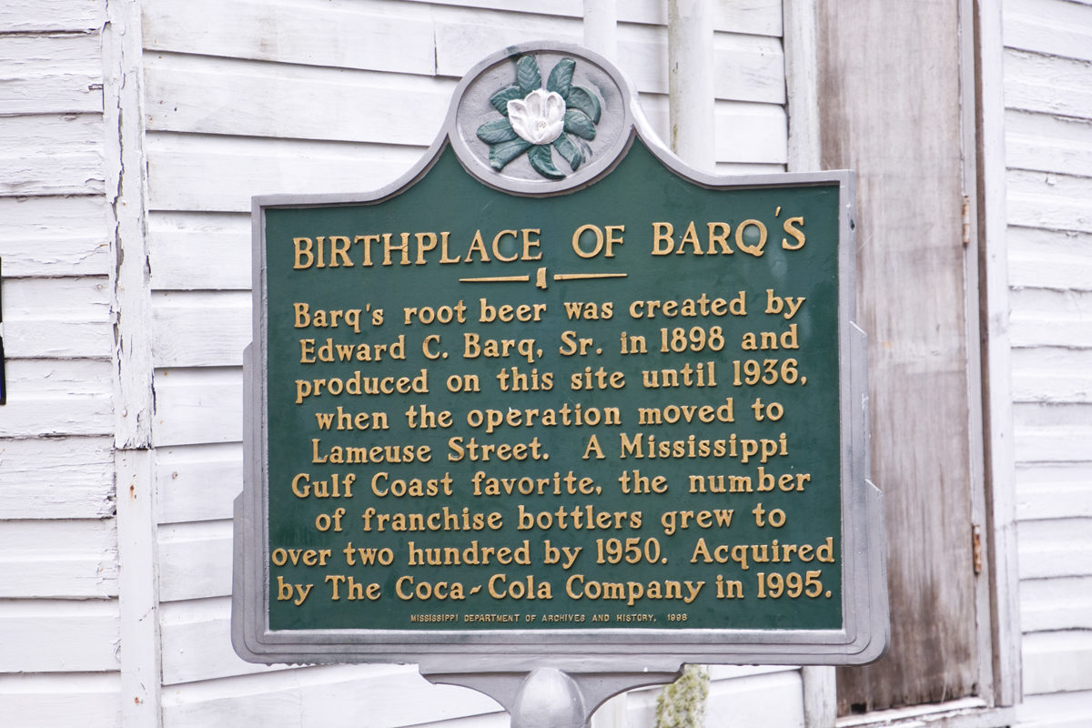 Birthplace of Barq's Root Beer Historic Marker