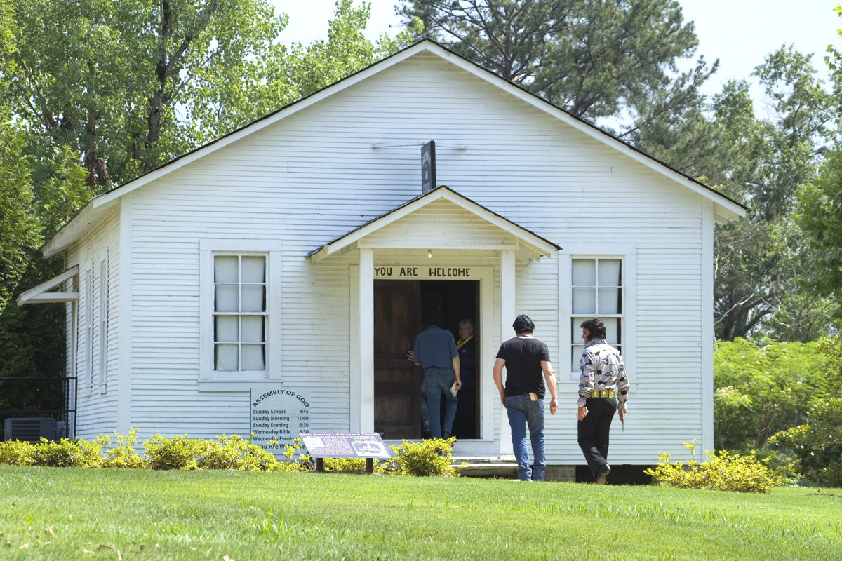 Elvis's church at the Birthplace in Tupelo, Mississippi
