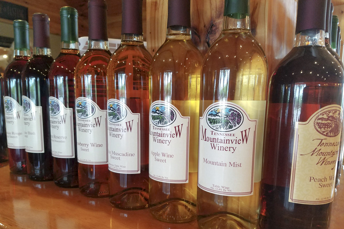 Mountainview Wines in assorted flavors at Morris Vineyard in Charleston, Tennesse