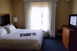 King Suite Room at the Fairfield Inn and Suites in Cleveland, Tennessee