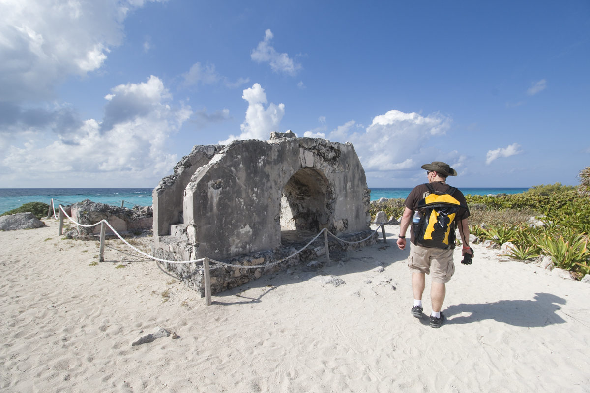 Mayan Ruins beachside at Punta Sur Ecological Park in Cozumel, Mexico