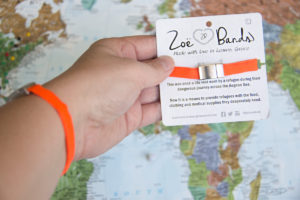 Zoe Bands are bracelets with a mission of helping Syrian refugees.