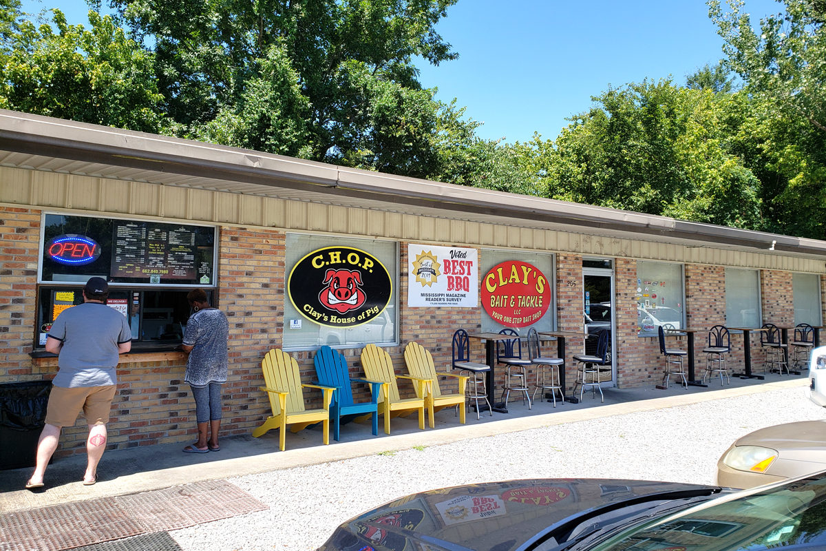 Clay's House of Pig in Tupelo, Mississippi