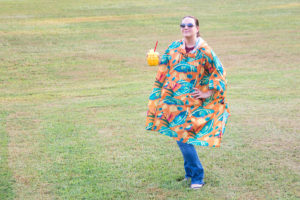 Jenni in the Shinesty Fanny Pack Poncho