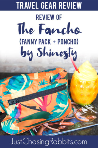 """Check out our travel gear review of the very travel-friendly """"Fancho"""" (fanny pack plus poncho) by Shinesty! 