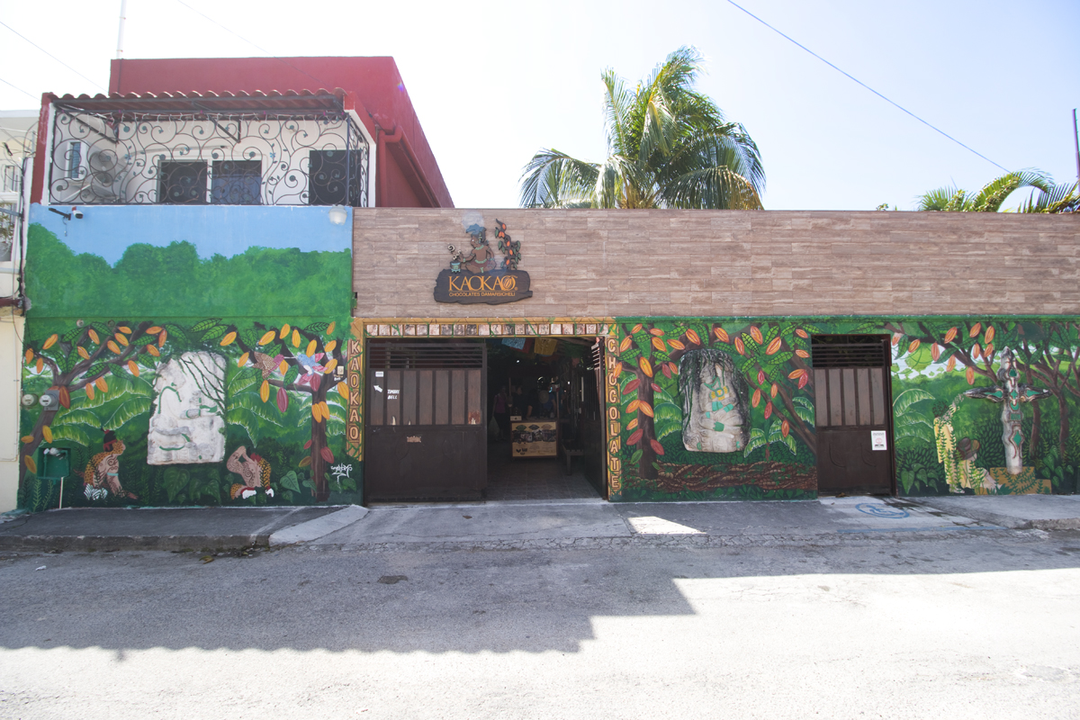 Exterior of Kaokao Chocolate Factory in Cozumel