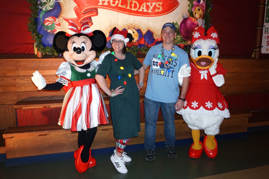 Meeting Minnie and Daisy at Mickey's Very Merry Christmas Party