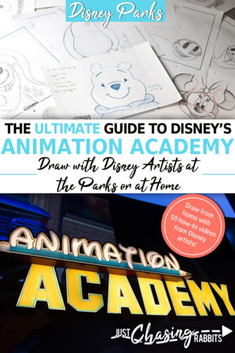If you enjoy Disney animation or have an artistic side, you'll love Disney's Animation Academy, whether you attend classes at the parks or watch these how-to-draw videos at home! This is our Ultimate Guide to Animation Academy! | Things to do at home | Things to do at Disneyland | Things to do at Disney World | #AnimationAcademy #Disneyanimation | How to draw Disney characters | Disney drawing classes