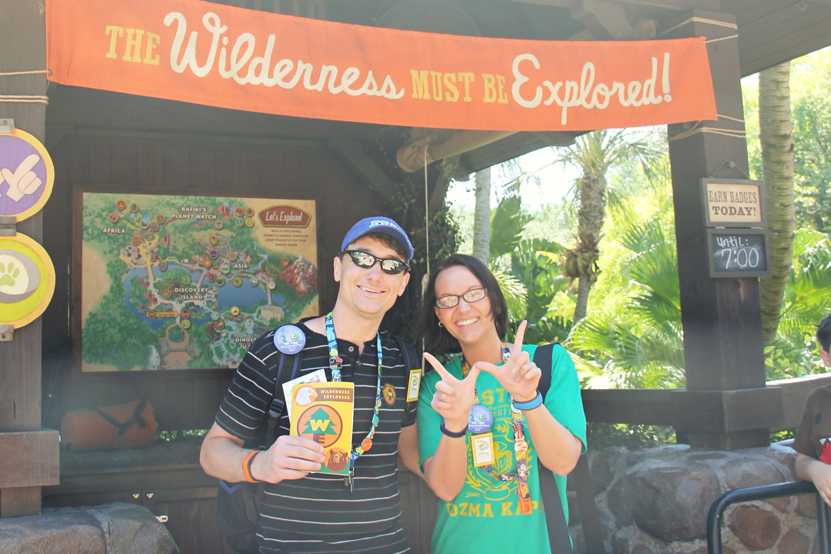 Mark and Jenni in front of Wilderness Explorers Headquarters