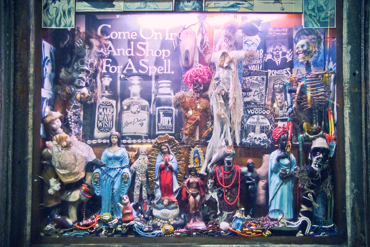 Come in and shop for a spell window display