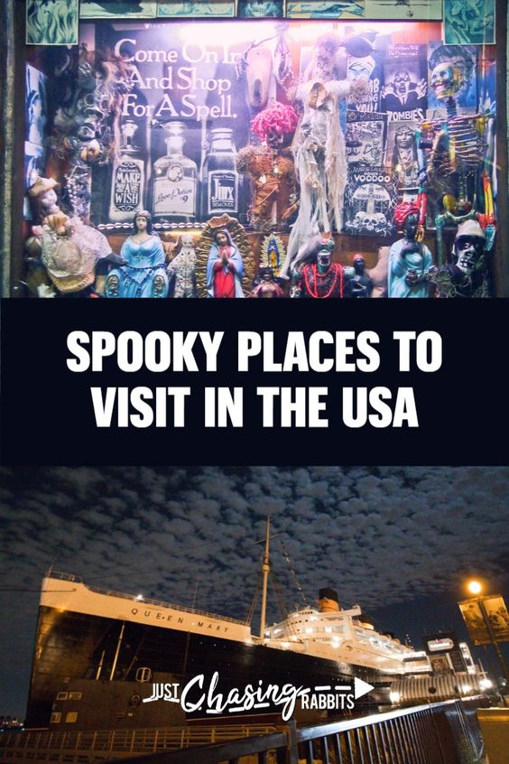 Do you enjoy creepy stories and haunted locations? We asked other bloggers to join us in sharing favorite spooky locations across the USA. Plan your next terrifying trip with this list of thrilling locations! #hauntedtravel #spookytravel #hauntedlocations #ghosttours