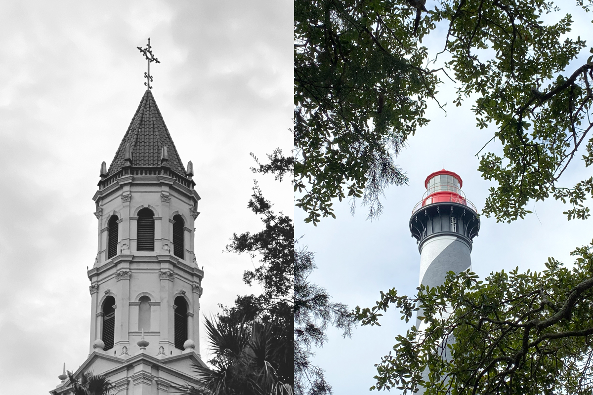 Church and Lighthouse in St. Augustine