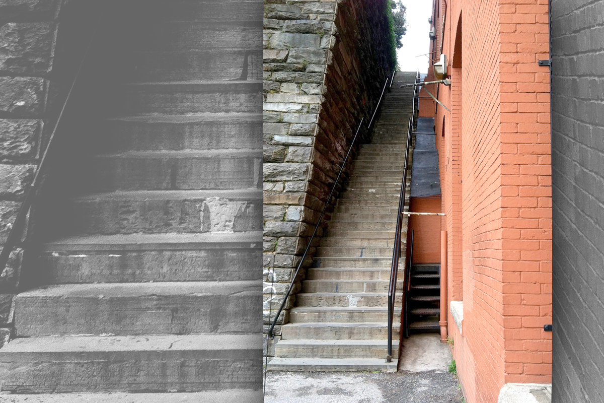 The Exorcist staircase, looking up from the bottom