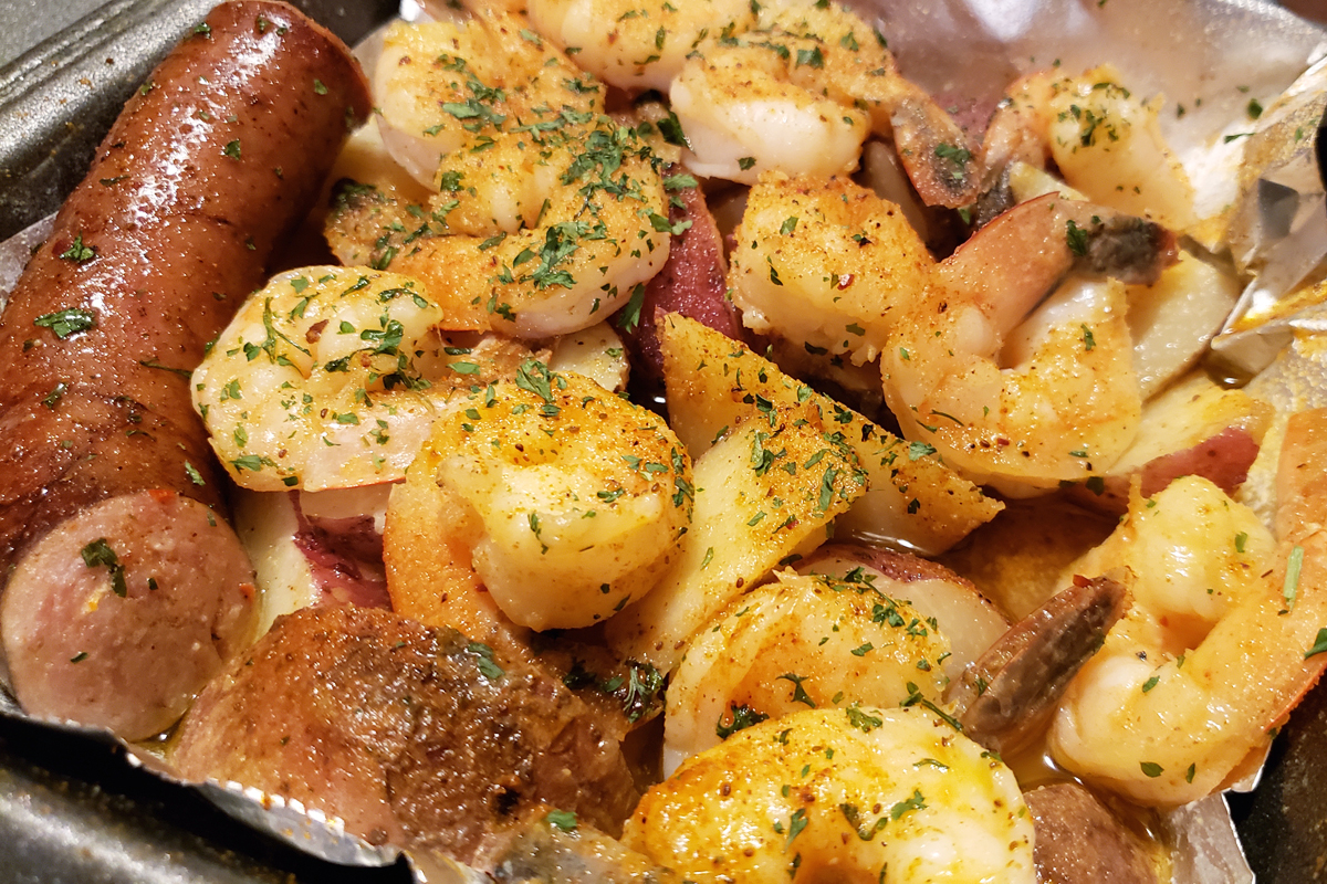 Shrimp and sausage from Krab Kingz