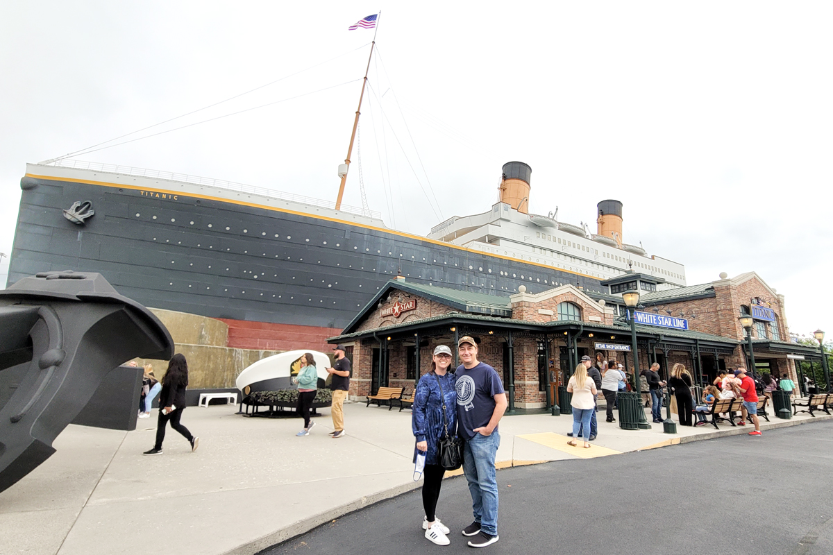 exterior of the Titanic Museum in Pigeon Forge