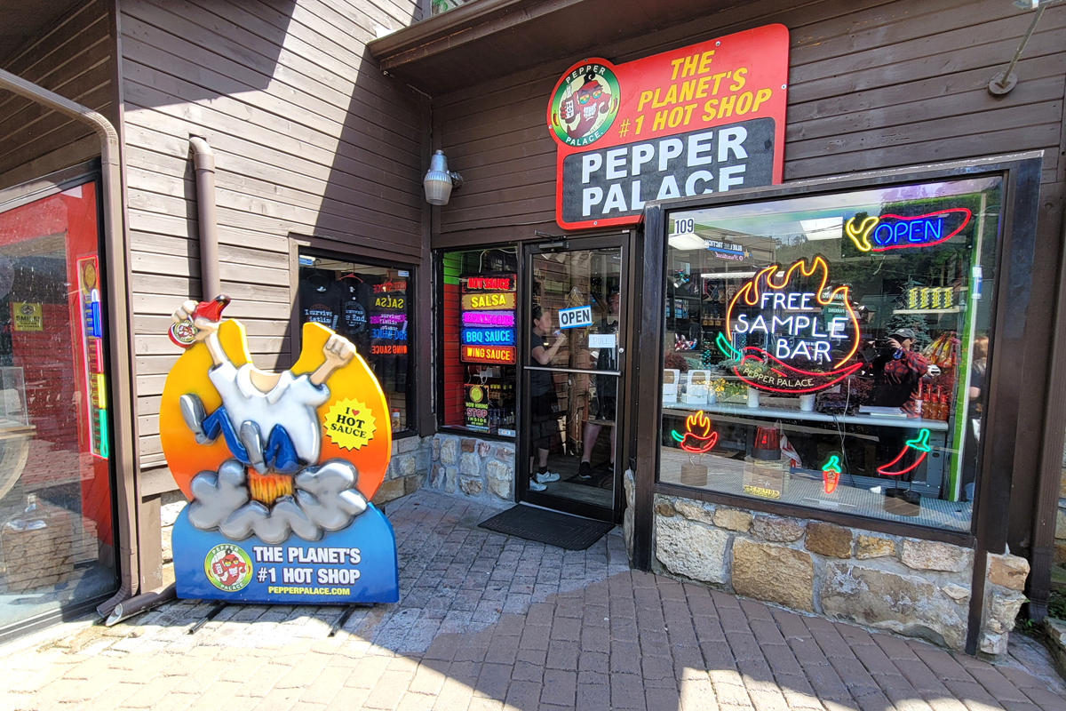 exterior of Pepper Palace hot shop museum