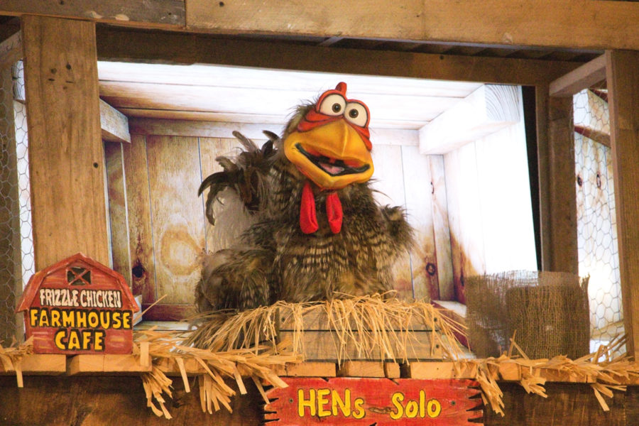 Hens Solo robotic chicken at Frizzle Chicken Farmhouse Cafe